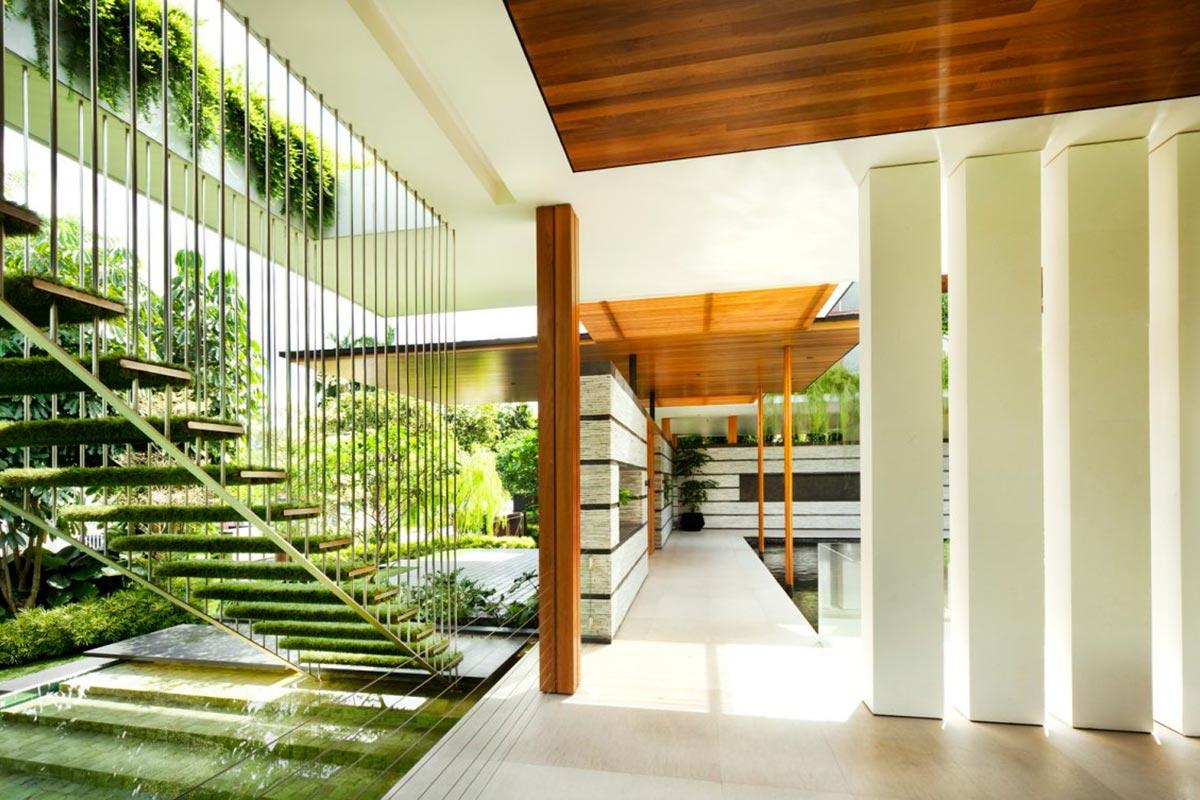 Зелёный дом сад Cluny Park от студии Guz Architects