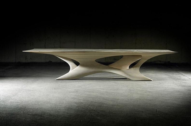 Обеденный стол Erosion II от дизайнера Joseph Walsh