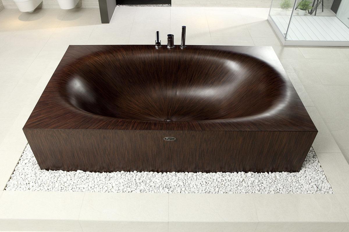 Итальянская ванна из дерева Laguna от aLEGNA