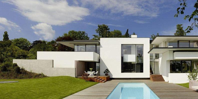 Дизайн современного частного дома SU от студии Alexander Brenner